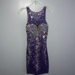Dresses & Skirts - Purple Gemmed Dress